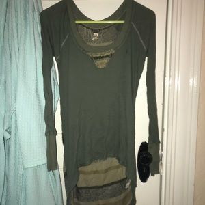 Free People High to Low Blouse